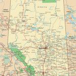 Alberta Road Map   Printable Map Of Alberta