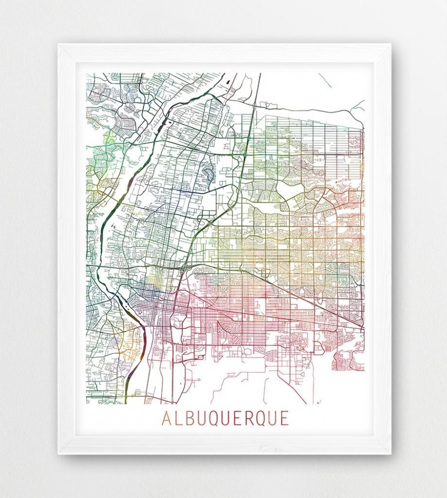 Albuquerque City Urban Map Poster Albuquerque Street Print   Etsy - Printable Map Of Albuquerque