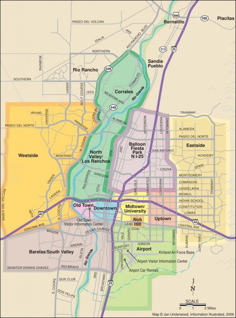 Albuquerque Maps   New Mexico, U.s.   Maps Of Albuquerque - Printable Map Of Albuquerque