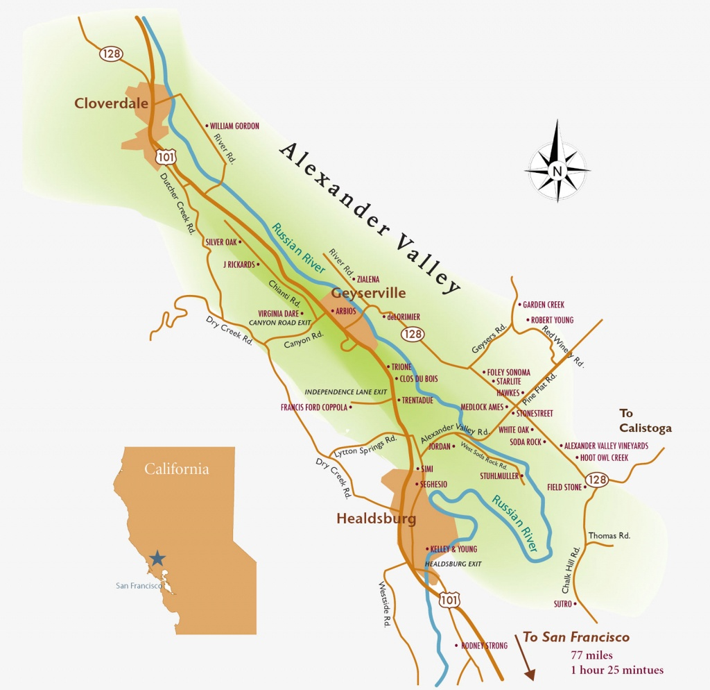 Alexander-Valley-Wine-Tasting-Map - Alexander Valley Winegrowers - Map Of Wineries In Sonoma County California