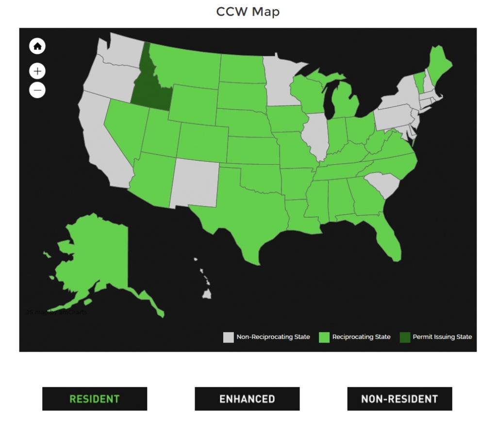 Alien Gear Holsters - Texas Ltc Reciprocity Map