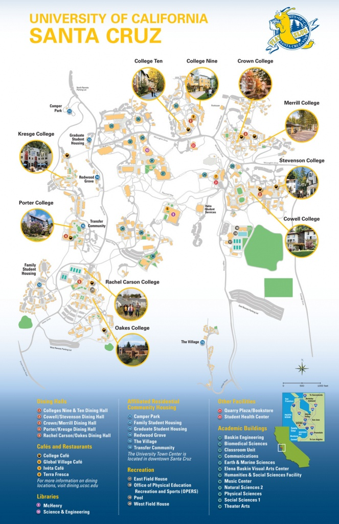 All Colleges Map - University Of California Santa Cruz Campus Map