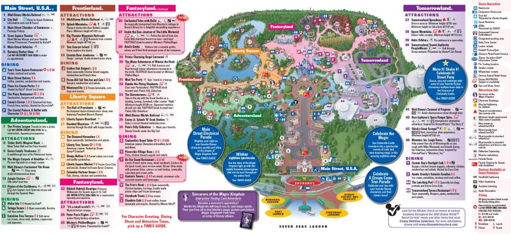 All Walt Disney World Resort Theme Park Maps | Meet The Magic - Printable Disney Park Maps
