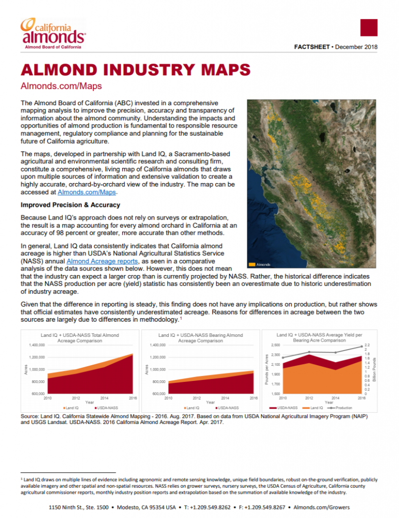Almond Industry Maps | California Almonds - Your Favorite Easy Snack - California Almond Production Map