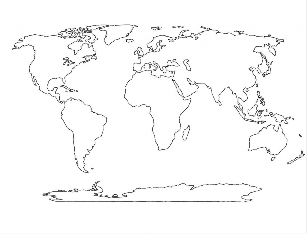 Amazing World Map Template 4 | Maps In 2019 | World Map Outline - World Map Template Printable