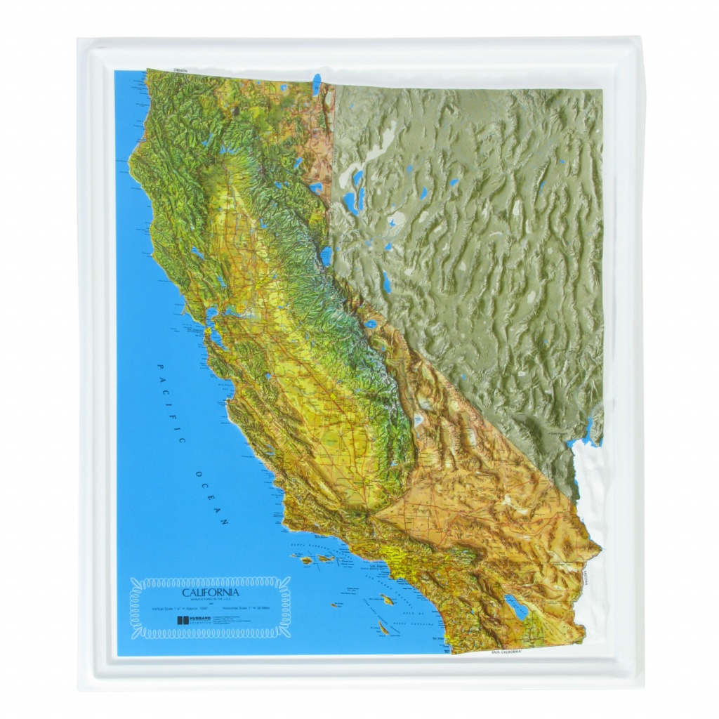American Education Raised Relief Map: California Ncr Series - Usa - California Raised Relief Map