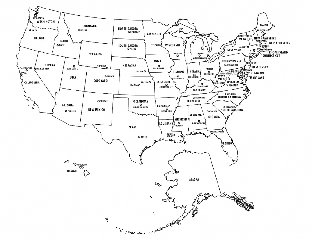 American Map States Quiz Us State Capitals Test Usa Names Of States - United States Map States And Capitals Printable Map