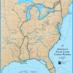 America's Great Loop Cruise Map   Intracoastal Waterway Florida Map