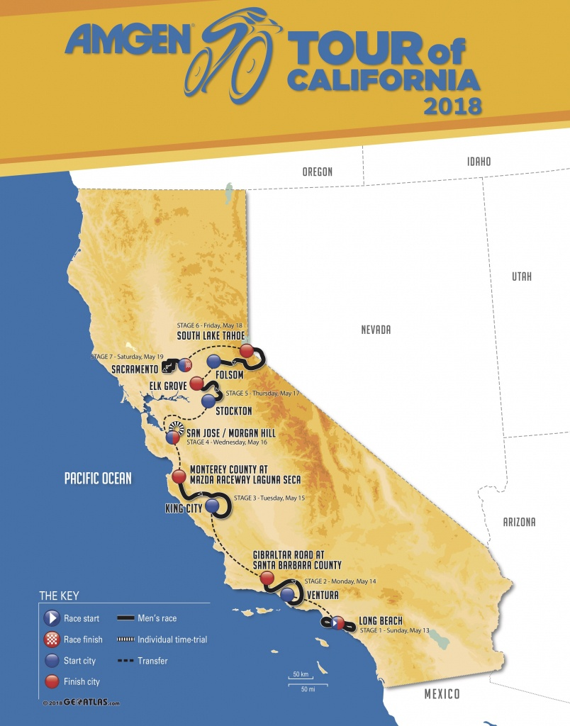 Amgen Tour Of California 2018 | Stage/race Profiles - Tour Of California 2018 Map