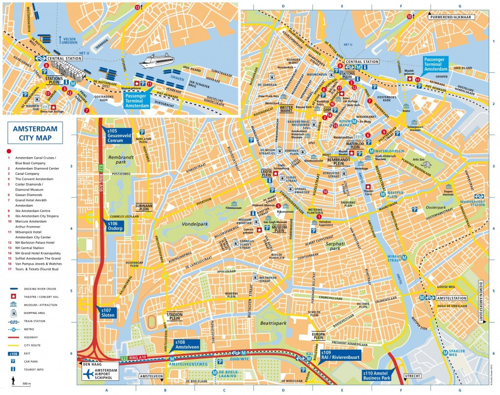 Amsterdam Attractions Map Pdf - Free Printable Tourist Map Amsterdam - Amsterdam Street Map Printable
