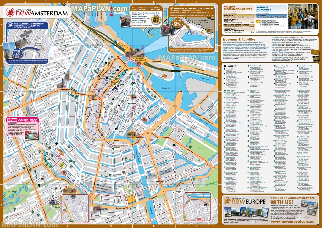 Amsterdam Maps Top Tourist Attractions Free Printable City - Amsterdam Street Map Printable