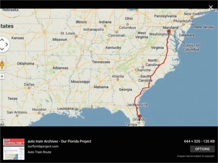 Amtrak Florida Map
