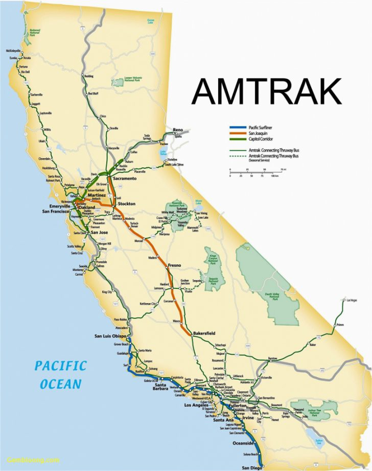 Amtrak California Map Stations