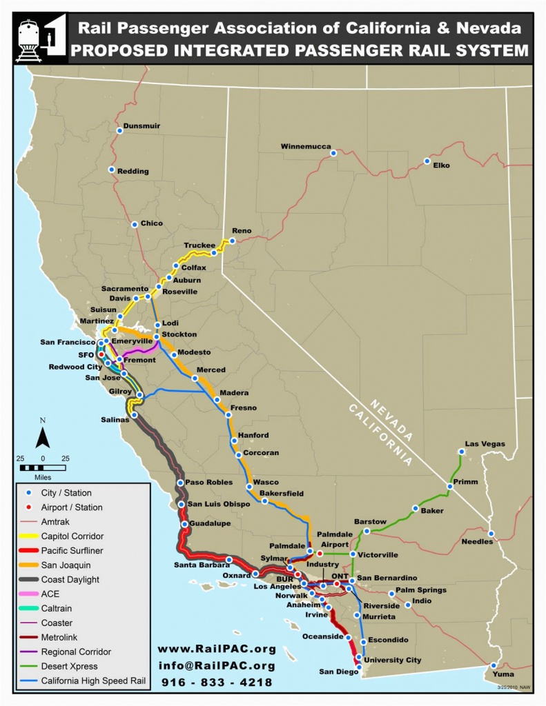 Amtrak Stations In California Map | Secretmuseum - Amtrak Stops In California Map