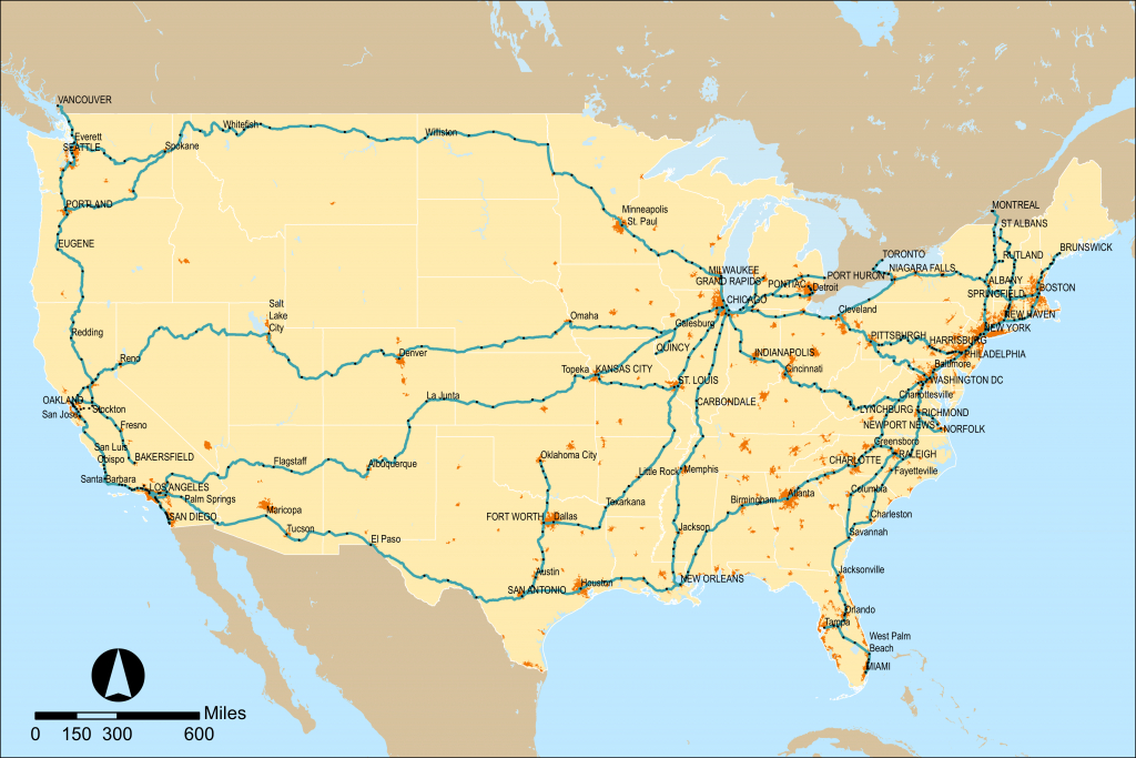 Amtrak - Wikipedia - Amtrak Train Map California