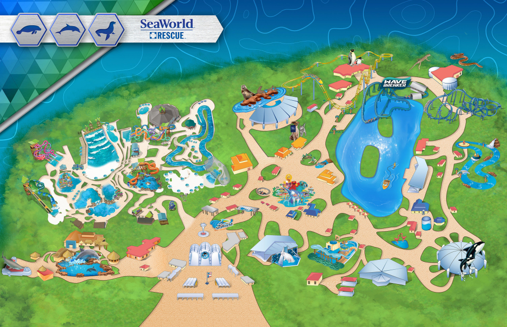 Amusement Parks In The Us Map Themeparkmap Best Of Seaworld San - Seaworld San Diego Printable Map