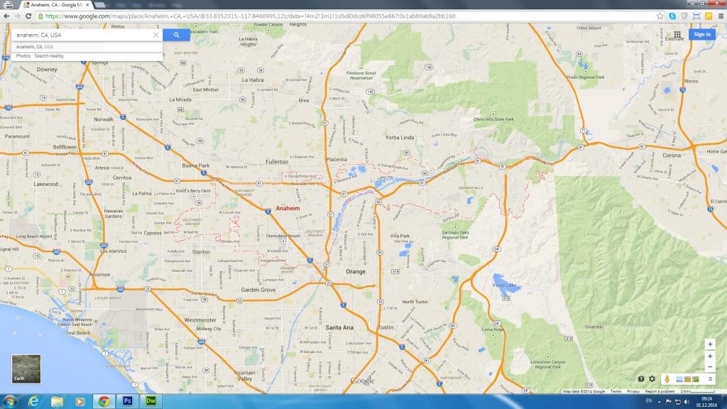 Anaheim, California Map - Anaheim California Google Maps