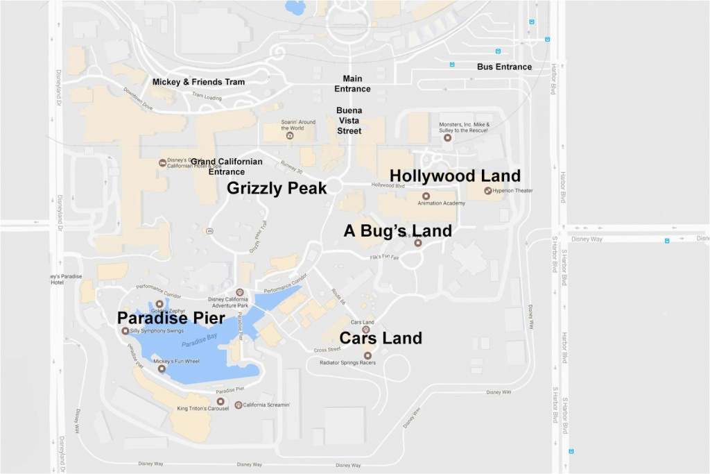 Anaheim California Map Google Maps Of The Disneyland Resort - Anaheim California Google Maps