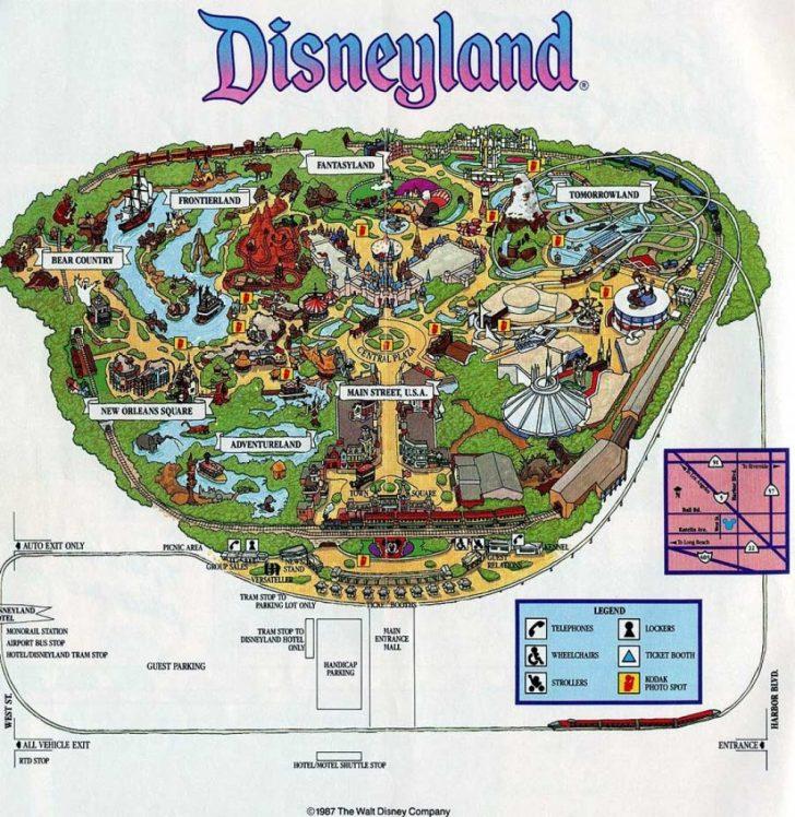 Disneyland Map 2018 California