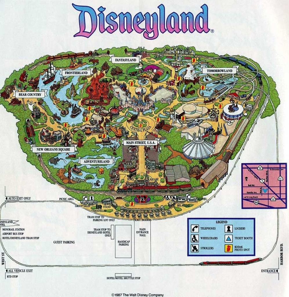 Anaheim Disneyland Map Disney California Adventure | D1Softball - Disneyland Map 2018 California