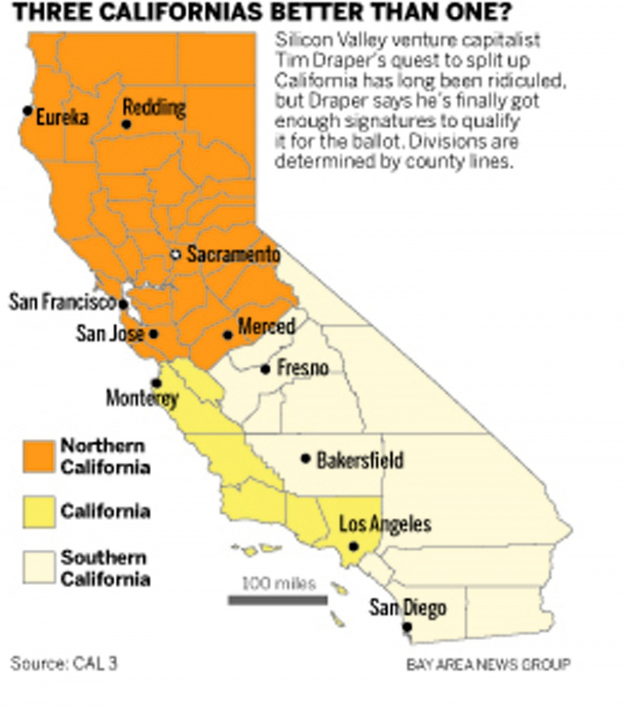 Analysis: Could 3-State California Really Happen? – Marin - Three State California Map