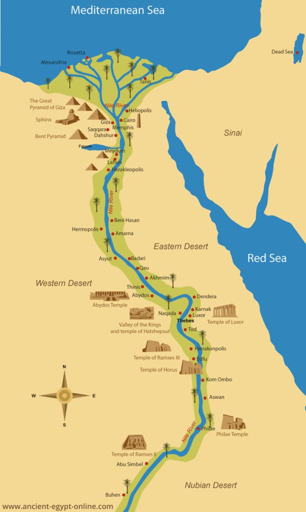 Ancient Egypt Maps - Ancient Egypt Map Printable