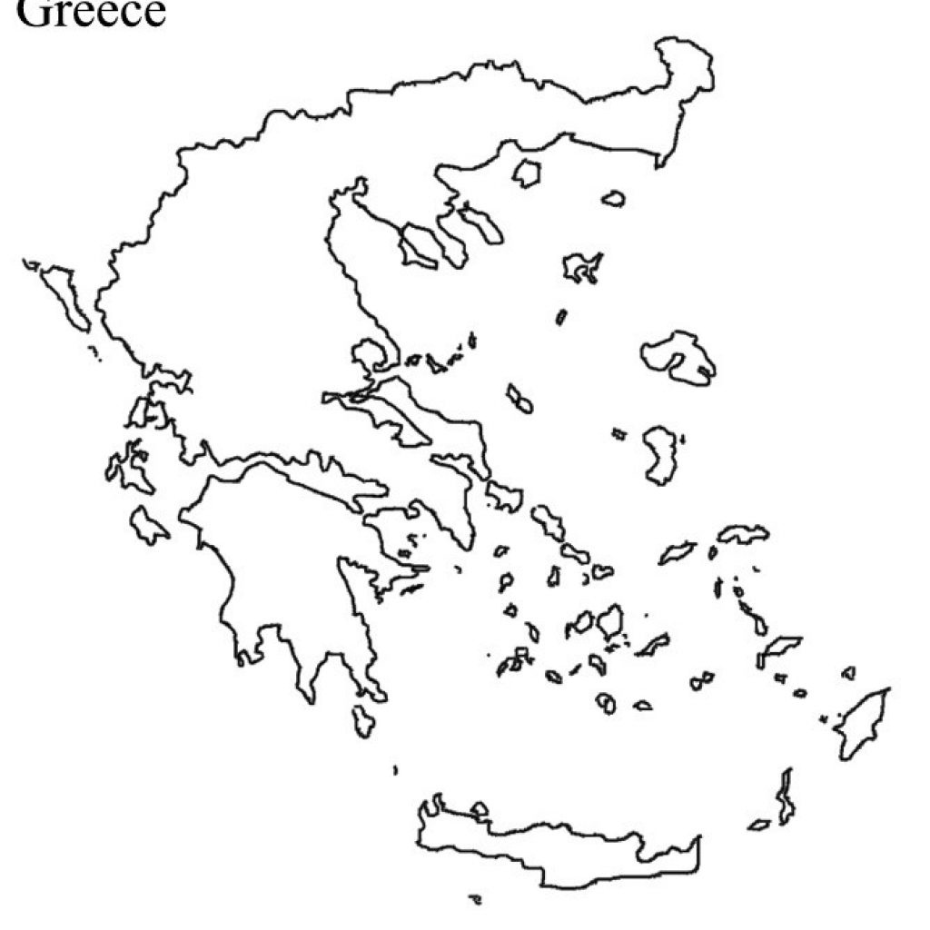 Ancient Greece Blank Map - Outline Map Of Greece Printable