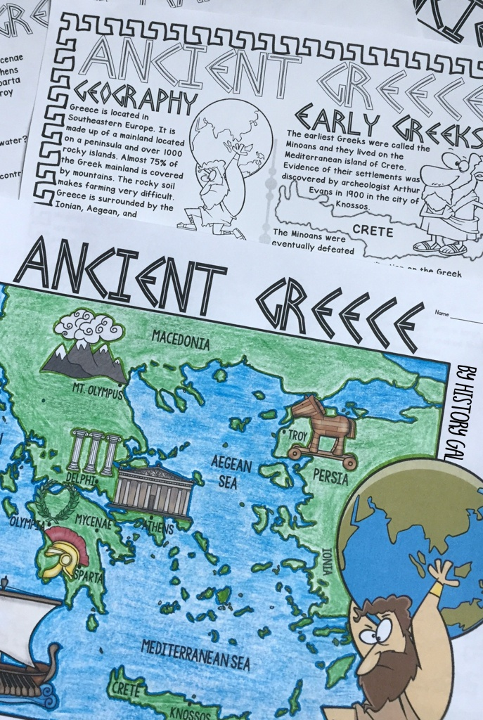 Ancient Greece Map Activity | History Gal | Map Activities, Ancient - Ancient Greece Map For Kids Printables