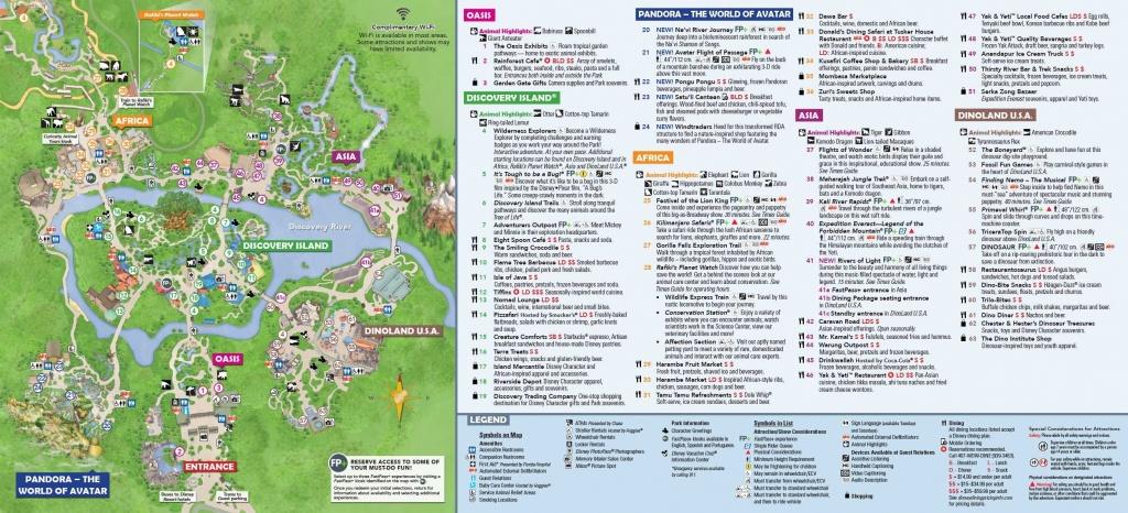 Animal Kingdom Itinerary In 2019 | Disney World | Disney World Map - Animal Kingdom Florida Map