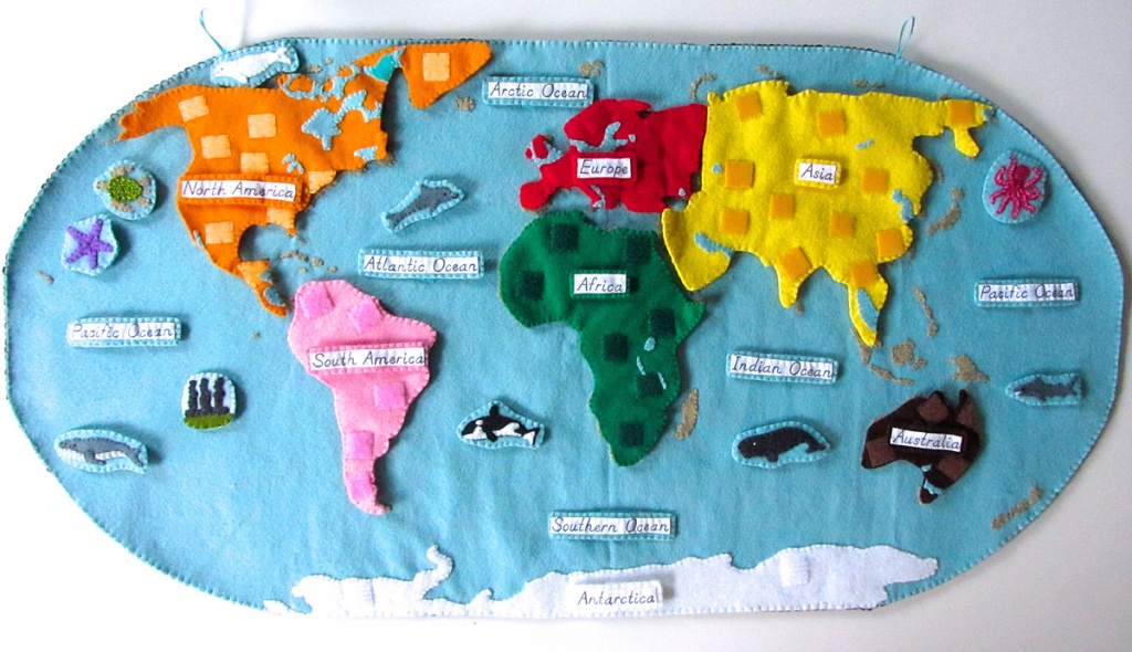 Animals Of The Ocean For The Montessori Wall Map & Quietbook With - World Ocean Map Printable
