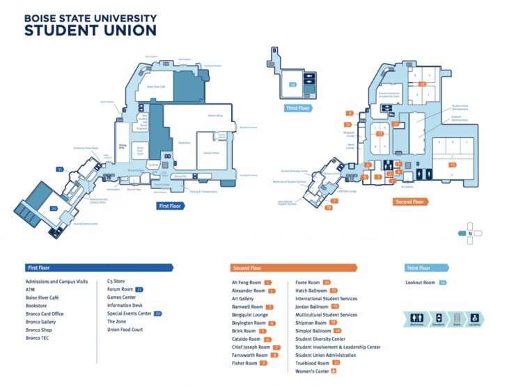 Boise State University Printable Campus Map