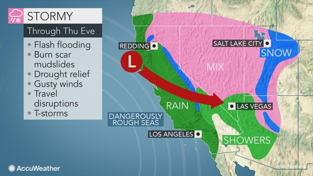 Another Disruptive Storm Has Its Sights Set On The West Coast This Week - Northern California Radar Map