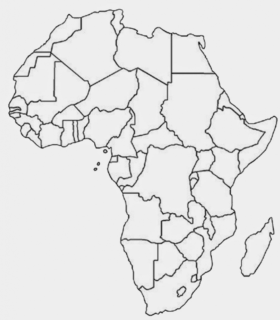 Another Similar But Sleeker Looking Free Printable Political Map Of - Free Printable Map Of Africa With Countries