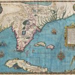 Antique Florida And Cuba Map Poster, Canvas, Poster Print - Florida Map Poster