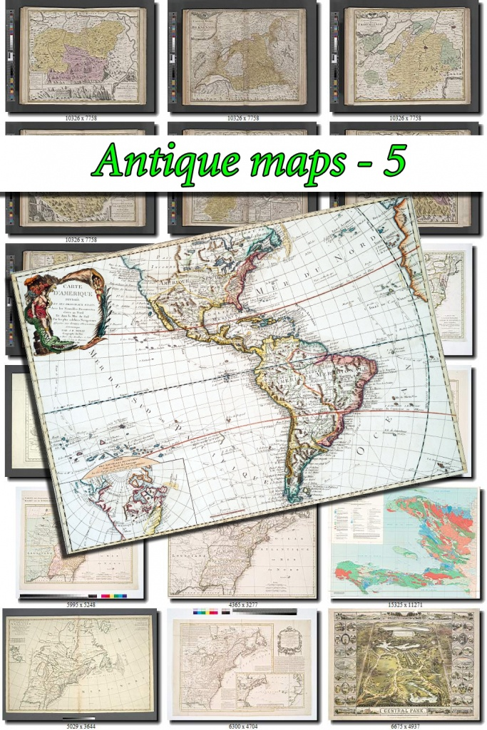 Antique Maps-5 Collection Of 147 Large Size Images Printable Old - Printable Old Maps