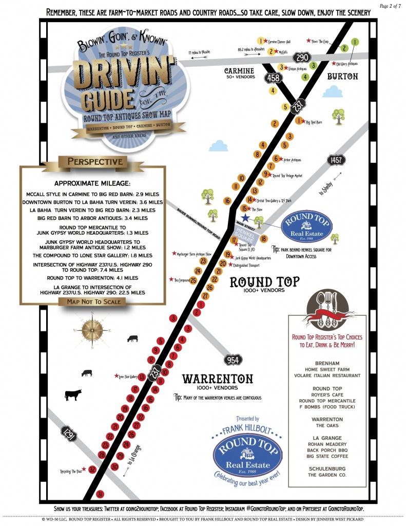 Antiques Show Map - Round Top Register | Warrenton | Round Top Texas - Round Top Texas Map