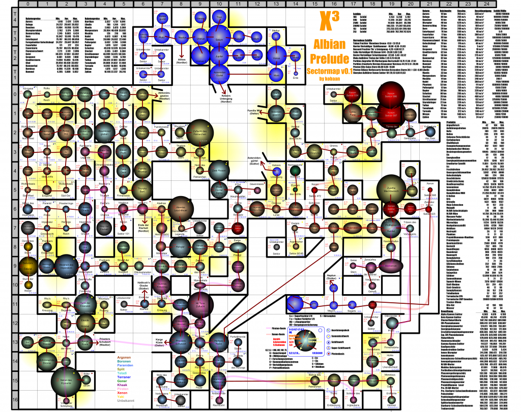 Ap] Sektorkarte In Druckgröße - Egosoft - X3Tc Printable Map