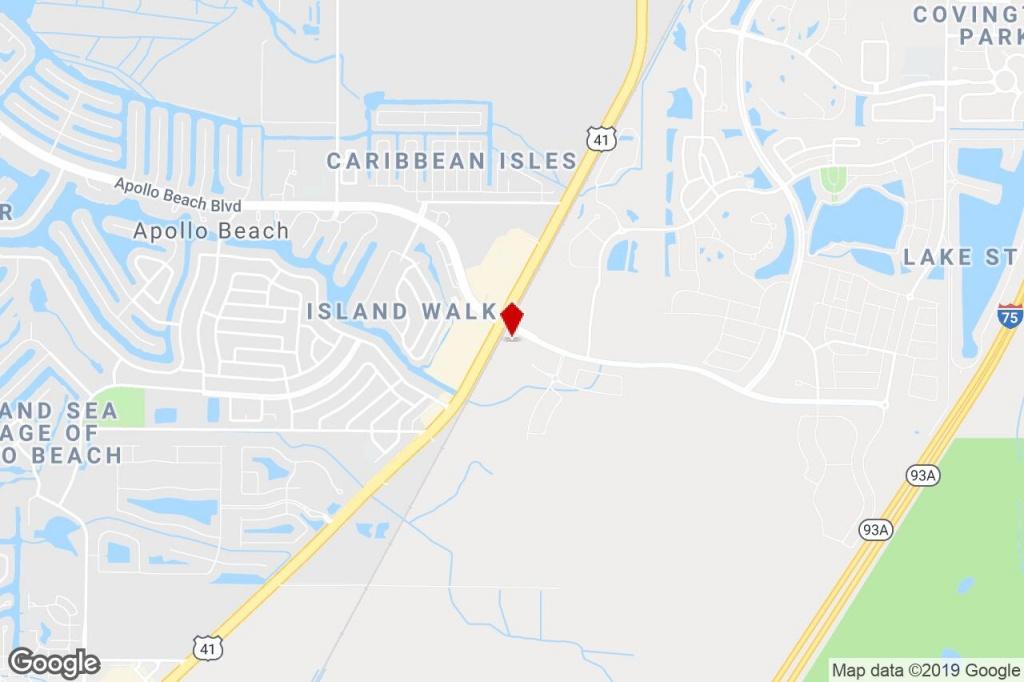 Apollo Beach Blvd. & S. Tamiami Trail, Apollo Beach, Fl, 33572 - Map Of Florida Showing Apollo Beach