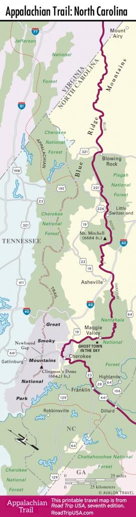 Appalachian Trail - Driving Route | Road Trip Usa - Printable Appalachian Trail Map