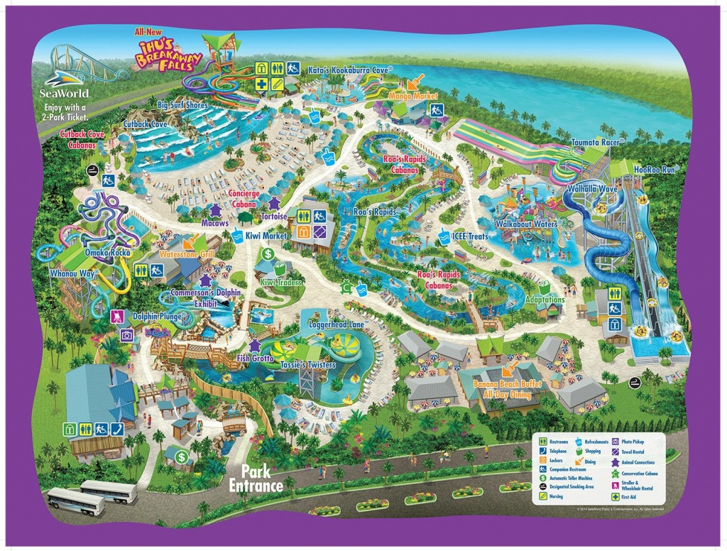 Aquatica Orlando Map - Map Of Aquatica Orlando (Florida - Usa) - Aquatica Florida Map