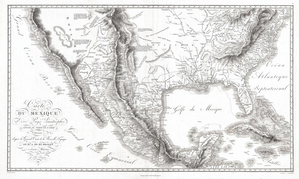 Archivo:1811 Humboldt Map Of Mexico, Texas, Louisiana, And Florida - Mexico Florida Map