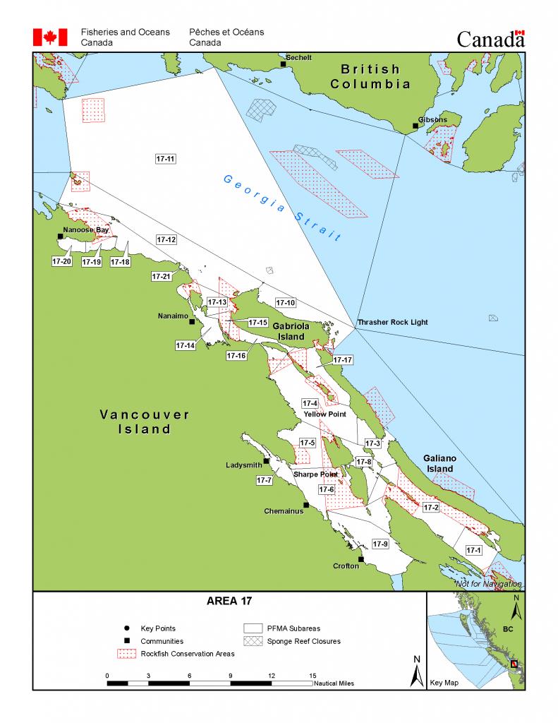 Area 17 (Nanaimo) - Bc Tidal Waters Sport Fishing Guide - California Fishing Map