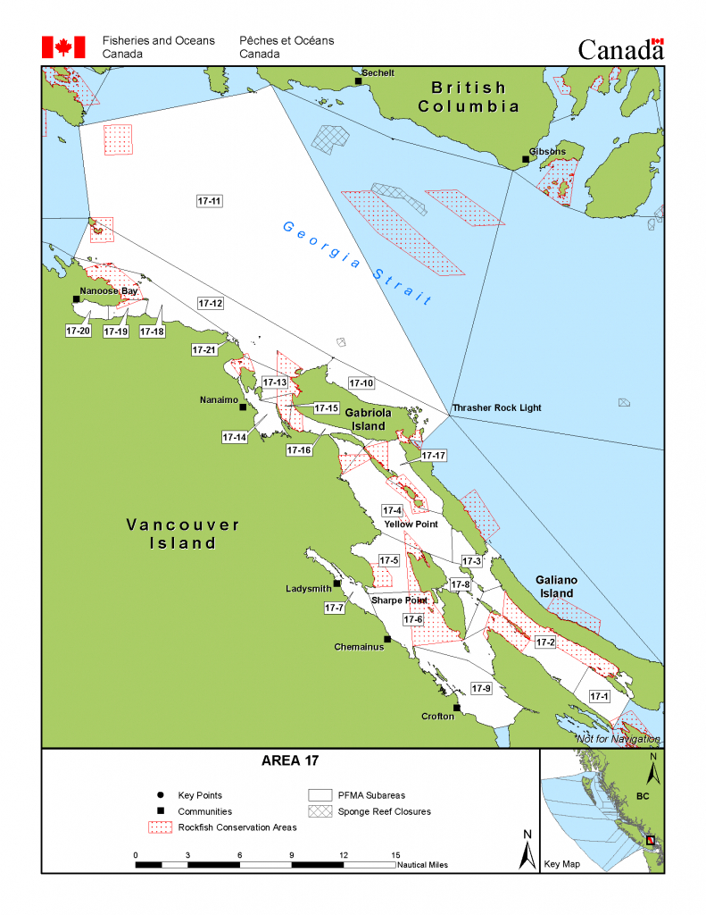 Area 17 (Nanaimo) - Bc Tidal Waters Sport Fishing Guide - California Fishing Regulations Map