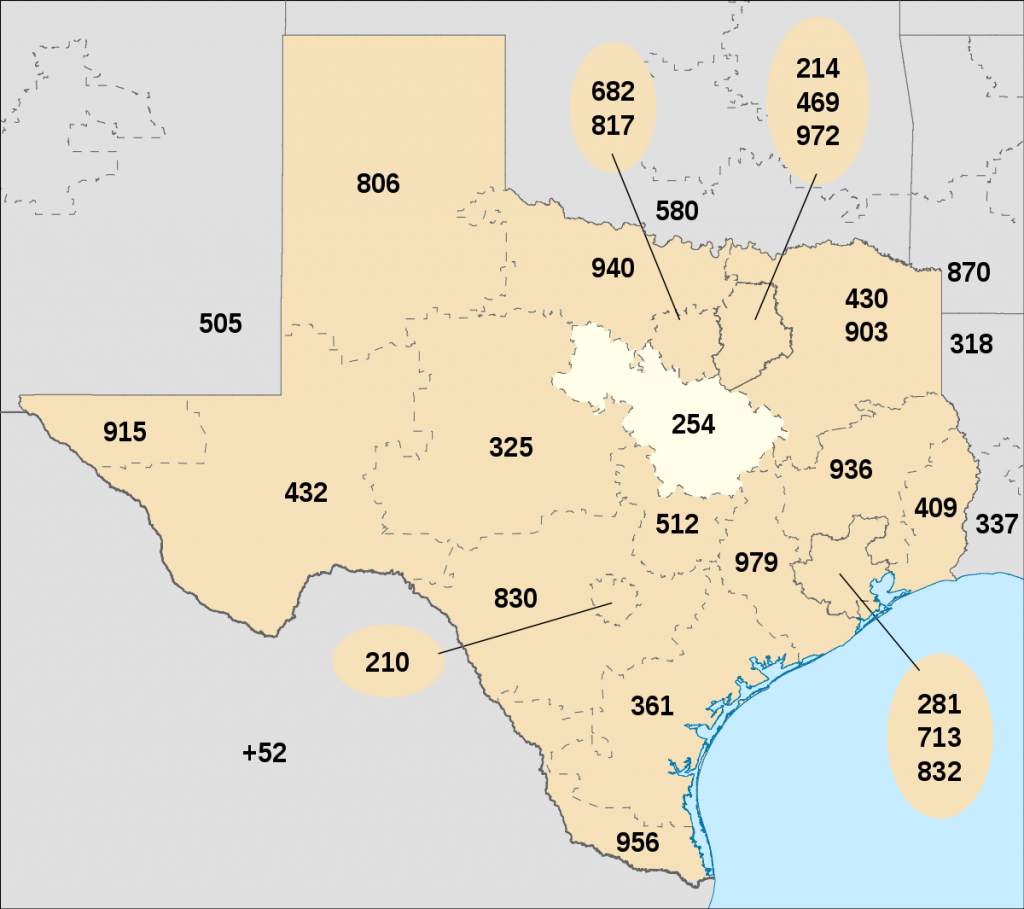 Area Code 254 - Wikipedia - Fort Hood Texas Map