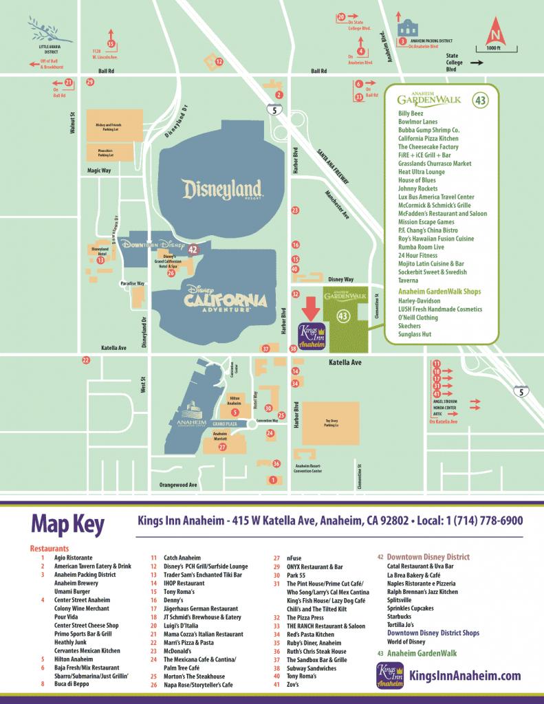 Area Guide — Kings Inn Anaheim™ - Map Of Hotels Around Disneyland California