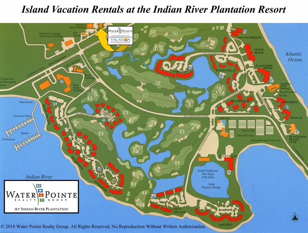 Area Map   Water Pointe Realty Group. Vacation Hutchinson Island - Hutchinson Beach Florida Map