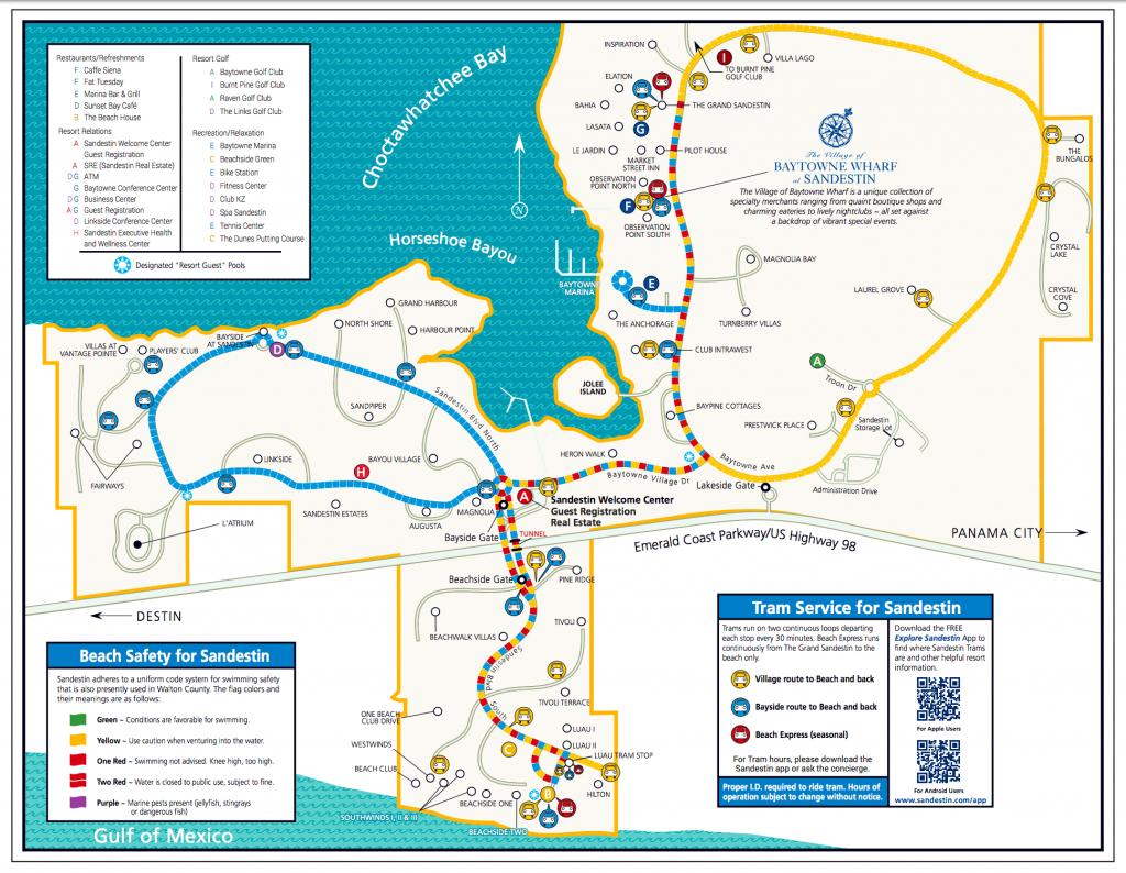 Area Maps | Sandestin Beach Maps | Hilton Sandestin Beach Golf - Destin Florida Location On Map