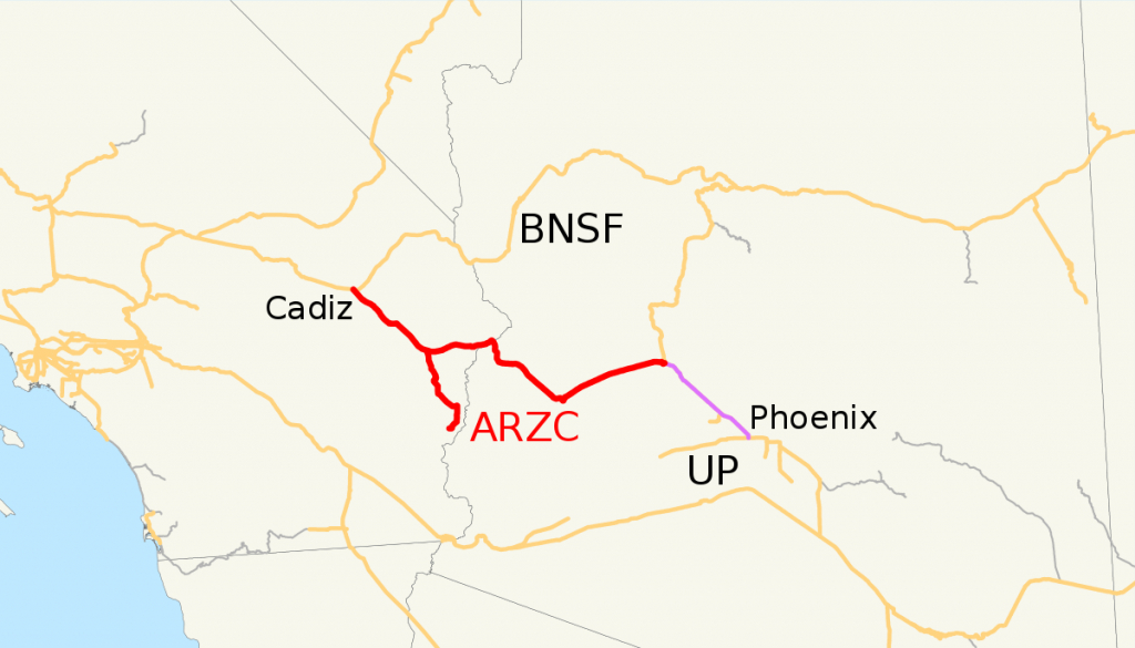 Arizona And California Railroad - Wikipedia - Earp California Map