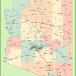 Arizona Road Map With Cities And Towns   Printable Map Of Arizona