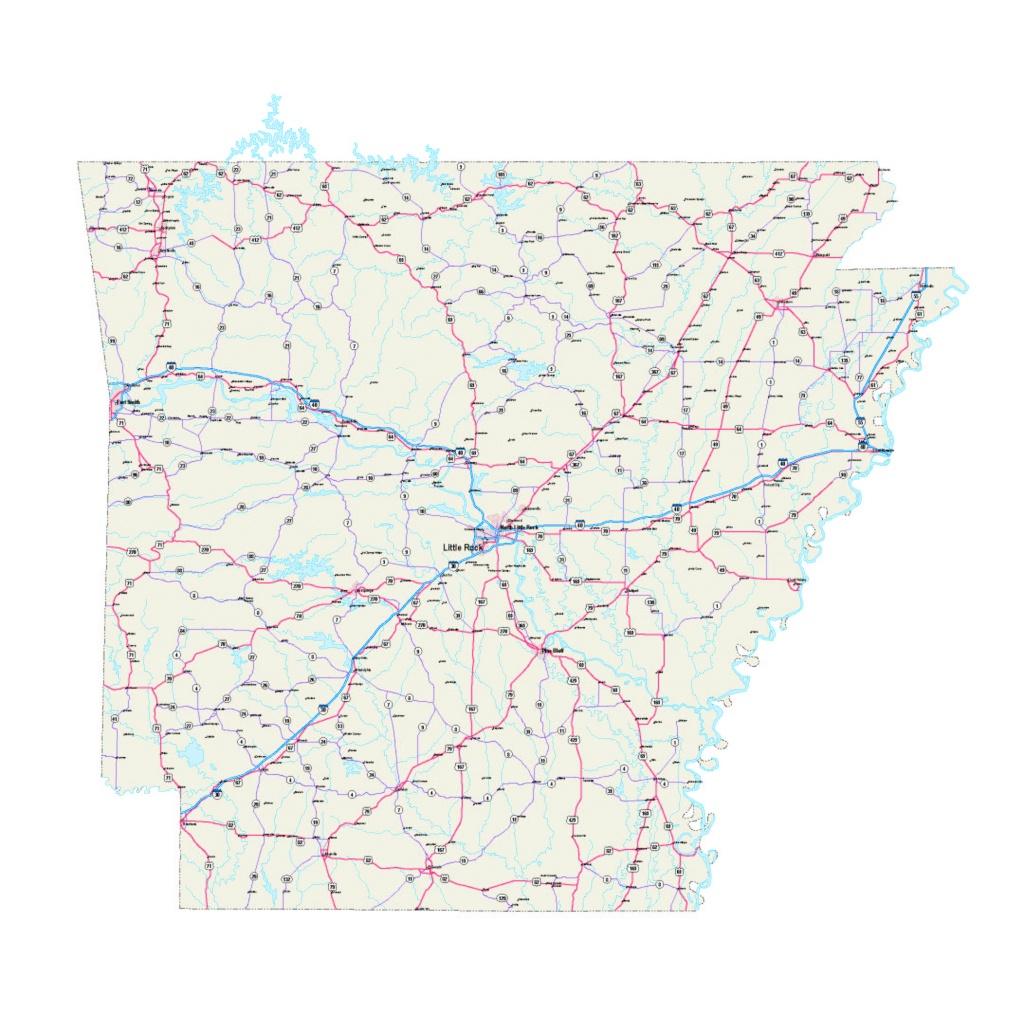 Arkansas Map - Arkansas Maps Free - Arkansas Printable Road Maps - Printable Map Of Arkansas